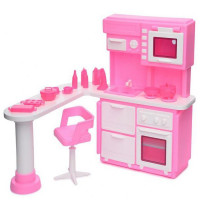 Мебель Кухня для куклы Розовая С-1388 Огонек
