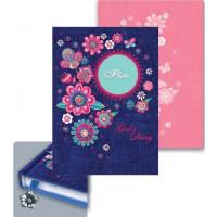 Ежедневник для девочек Цветы и джинс А6 80л. 39790