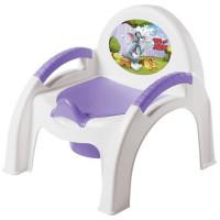 Горшок детский стульчик Том и Джерри сиреневый 431308203