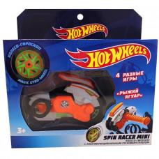 Hot Wheels Spin Racer Рыжий Ягуар пуск. механизм с диском, 12 см, оранж. Т19368