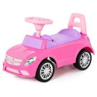 Каталка-автомобиль SuperCar №3 со звуковым сигналом розовая 84491 П-Е /1/