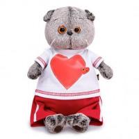 Басик в футболке с сердцем 19 см. Ks19-139