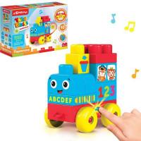Игрушка музыкальная Паровозик Talky Blocks кнопочка 4630027291639