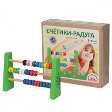 Дер. Счеты Радуга СЧ-04
