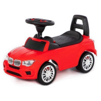Каталка-автомобиль SuperCar №5 со звуковым сигналом красная 84583 П-Е /1/