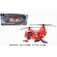 Набор машин AF1018A с вертолетом в кор.