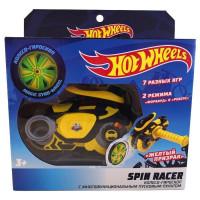 Hot Wheels Spin Racer Желтый Призрак пуск. механизм с диском, 16 см, желт. Т19371