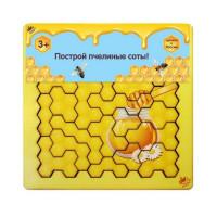 Дер. Головоломка Пчелиные соты цветные IG0183