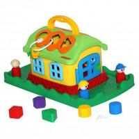 Логич.игрушка Сказочный домик на лужайке в сетке 48752 /П-Е/4/