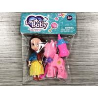 Кукла малышка 0052SM с пони в пак.
