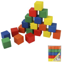 Дер. Кубики цветные 20шт. БП-00000196 / Арбо /