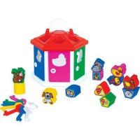 Логич.игрушка Домик логический в сетке 6196 /П-Е/12/