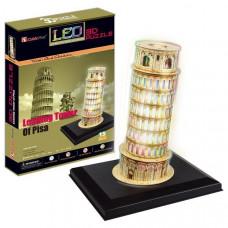 CubicFun Констр-р Пизанская башня с иллюминацией L502h