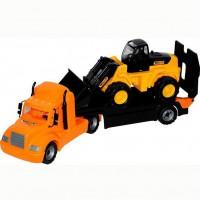 Автомобиль Майк трейлер+трактор погрузчик 55743 П-Е /1/