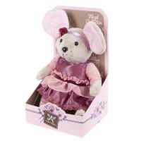 Мышка Lady mouse Вишенка  в малиновом платье 681200