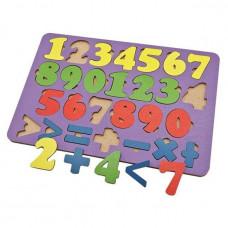 Дер. Обучающий набор Арифметика 27 знаков,цвет, планшет 28*19см 6101131