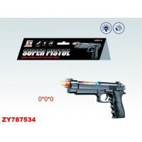 Пистолет 998-1 свет, звук, в пак.