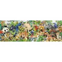 Пазл 1000 Мир животных Панорама 79402 Степ /9/