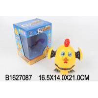 Игрушка на бат. 698 Боевой цыпленок, свет, звук, в кор.