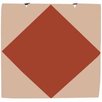 Мат гимнастический 1х1х0,05м с вырезом под стойки бежевый-коричневый