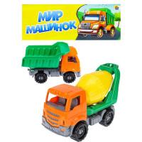 Набор машинок грузовиков №2 Строительный (Самосвал+Бетоновоз) И-9532