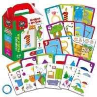 Игра наст. Карточки на кольце Цифры и фигуры VT5000-02