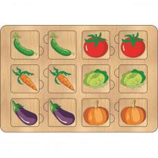 Дер. Игра развивающаяНайди пару. Овощи 28*19см планшет 6201161