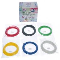 Набор ДТ Набор пластика ABS. 6 различных цветов по 12 м SC-ABS-06 HONYA