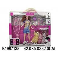 Кукла 156H с набором платьев в кор.