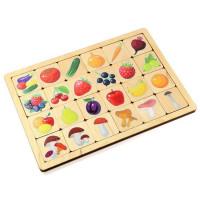 Дер. Игра развивающая Овощи-Фрукты-Ягоды-Грибы 00740