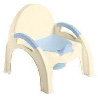 Горшок детский стульчик светло-голубой 431326731