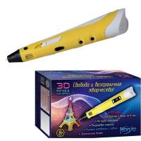 Набор ДТ Ручка 3D детская желтая 3D-PEN-SC-3-yellow HONYA