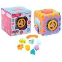 Логич. игрушка Куб IT105411 на бат., в кор.