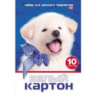 Картон Белый 10л Белый щенок 15023 Hatber
