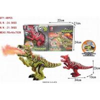 Динозавр 15-KQX с дымом, звук, подсветка в кор.