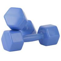Гантели пластмассовые 1,1 кг 2шт с наполнителем У983