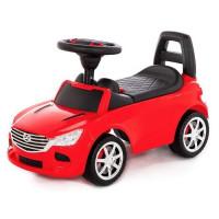 Каталка-автомобиль SuperCar №4 со звуковым сигналом красная 84507 П-Е /1/