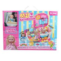 Игровой набор 077QL Ванная комната с куклой в кор.