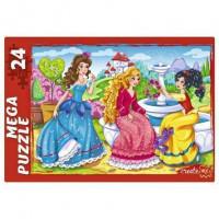 Пазл 24 Мега Принцессы на прогулке П24-6369