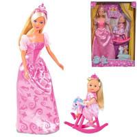 """Кукла Штеффи и Еви, набор """"Принцессы"""", зверушки в комплекте 5733223029"""
