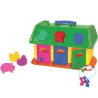 Логич.игрушка Домик для зверей в сетке 9166 /П-Е/9/