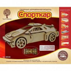 Дер. констр-р Спорткар-2 с резиновым двигателем 80146