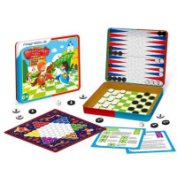 Игра магнитная 4-в-1,шахматы, шашки, китайские шашки, нарды BG-003