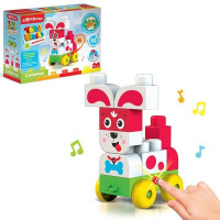 Игрушка музыкальная Собачка Talky Blocks кнопочка 4630027291684