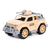 Автомобиль джип военный-сафари Легионер-мини с 1-м пулемётом в сетке 83647 П-Е /15/