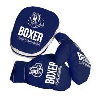 Боксерский набор № 7 лапа и перчатки 99818