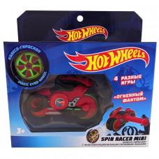 Hot Wheels Spin Racer Огненный Фантом пуск. механизм с диском, 12 см, крас Т19365