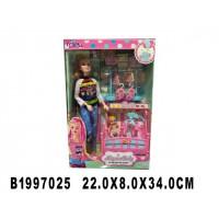 Кукла 300-25JX мама с малышом и аксесс. в кор.