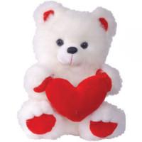 Медведь с сердцем большой 62 см. 3329БV/БЕЛ