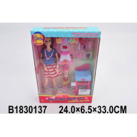 Кукла 200-60JX Ванная комната с аксесс. в кор.